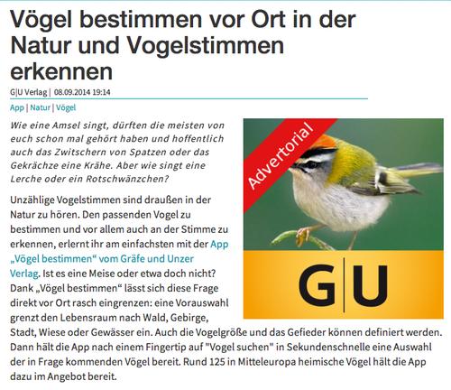 Vögel bestimmen App auf android-user.de