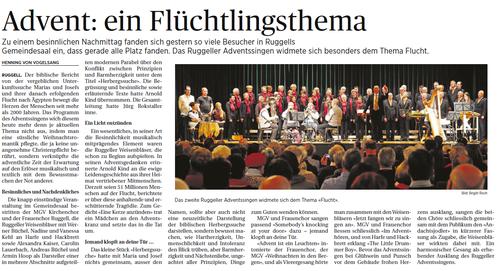 Lokalzeitung Vaterland, 1. Dezember 2014