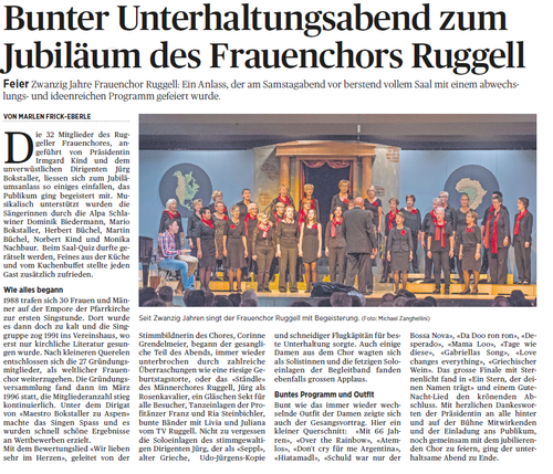 Lokalzeitung Vaterland, 26. September 2016