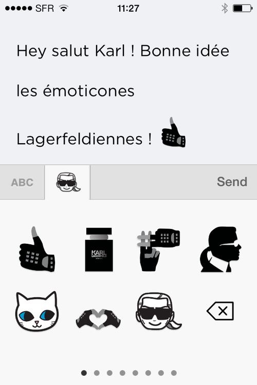 Emoticones Karl Lagerferld