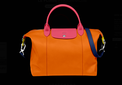 Sac Pliage Cuir customisable Longchamp