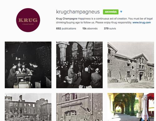 maison krug champagne instagram mentions légales alcool loi evin