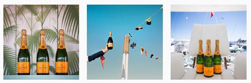 Instagram champagne veuve clicquot
