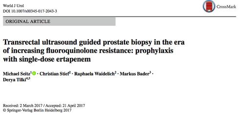 Prostatabiopsie und multiresistente Keime