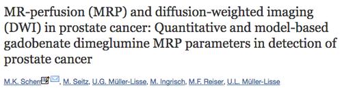 Mulitparametrische MRT der Prostata bei Prostatakrebs