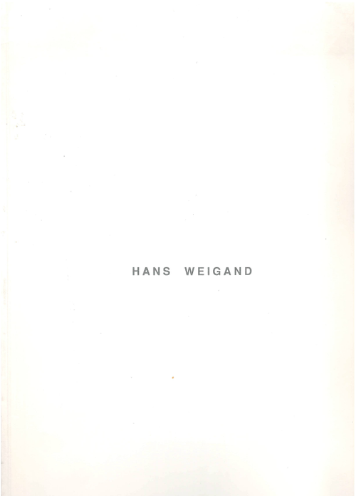 Hans Weigand Buch / Katalog (Book / Catalogue).