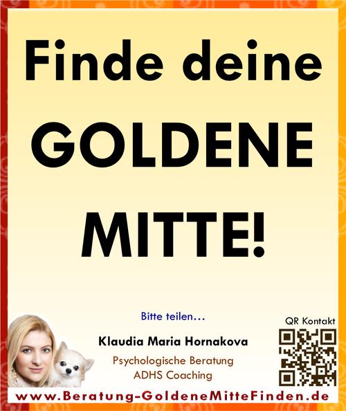 Finde deine Goldene Mitte!  (Beratung & Coaching GoldeneMItteFinden)