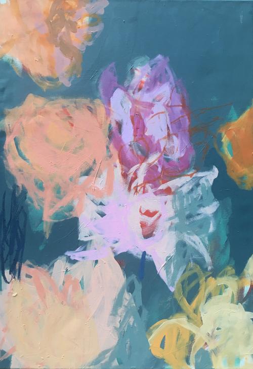 CRISS CROSS 4 , 100x70cm , acrylic on canvas