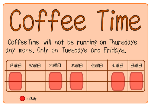 coffee time new schedule