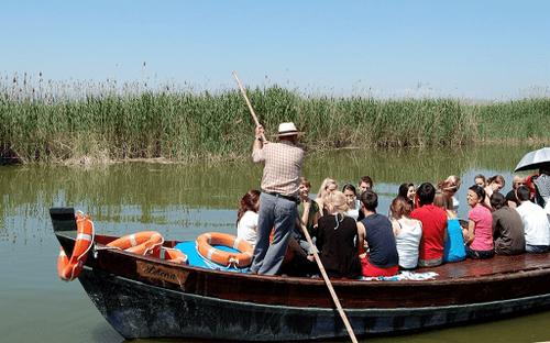 a barca a Pexa es una modalidad tradicional de navegar por el lago de la Albufera de Valencia.