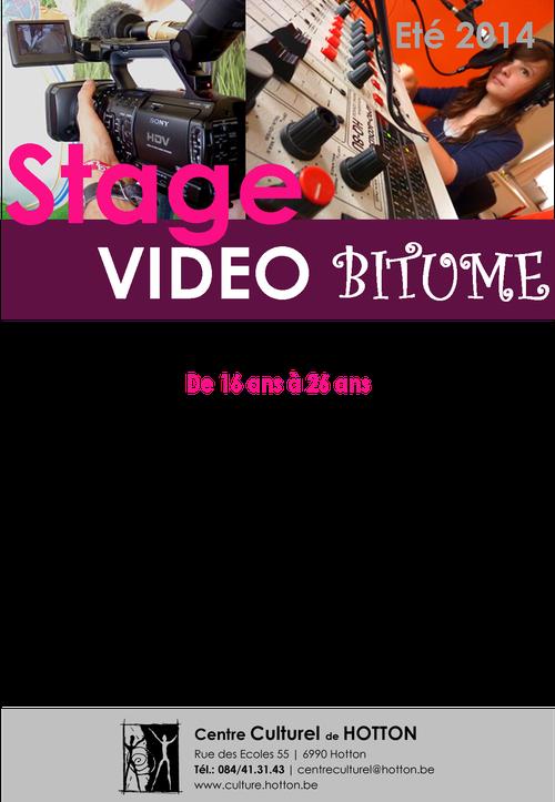 stage vidéo Bitume