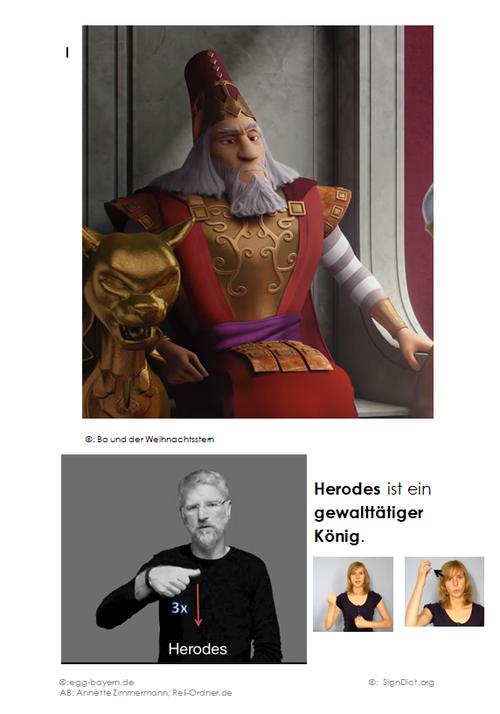 Herodes ist ein gewalttätiger König.