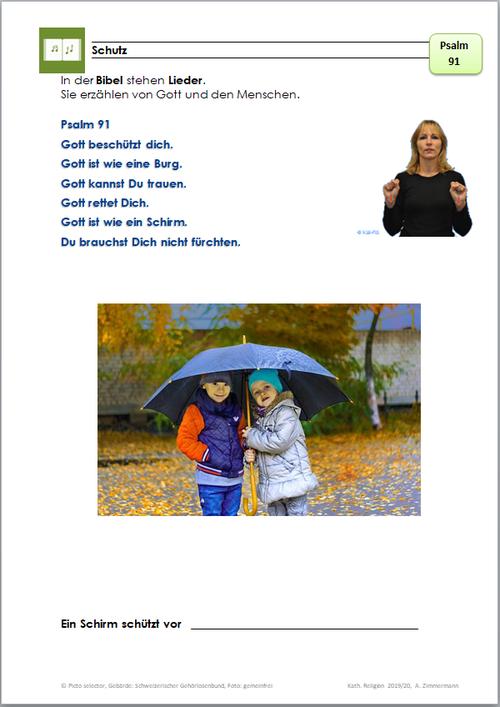 Psalm 91 Gott ist wie ein Schirm.