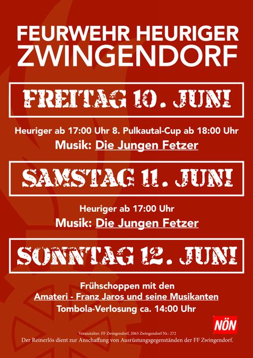 Plakat FF-Heuriger 2016 in Zwingendorf