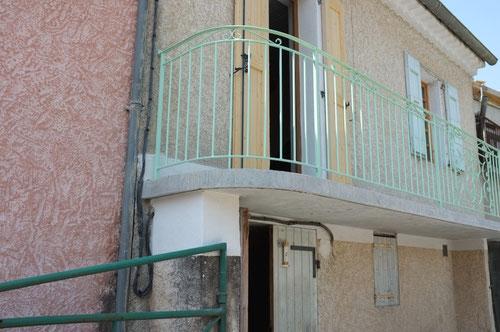 Garde-corps sur terrasse ou balcon. Rampe Garde corpsarrondi sur terrasse