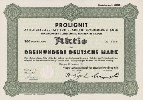 Prolignit AG für Braunkohlenveredlung Köln