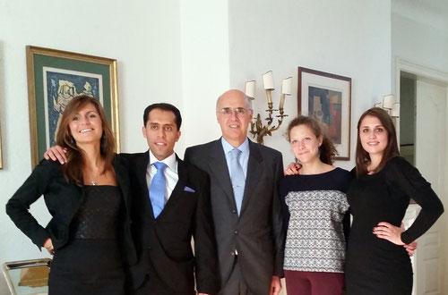Stagiaires UNI GE avec SE l'ambassadeur d'Argentine en Suisse