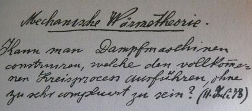 Bild 5: Schriftprobe Rudolf Diesel im Alter von 20 Jahren