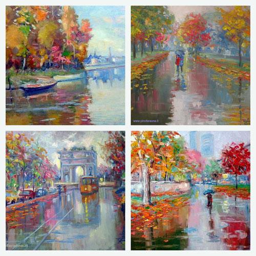 Paesaggi autunnali dipinti