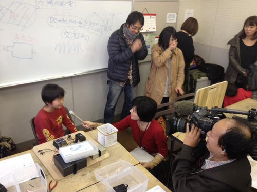 親子で学ぶ〜手づくり発電教室 NHK取材