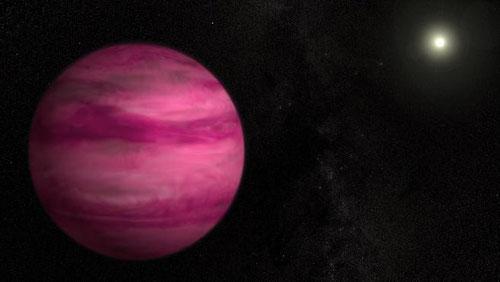l'exoplanète rose GJ 504b (NASA / AFP)