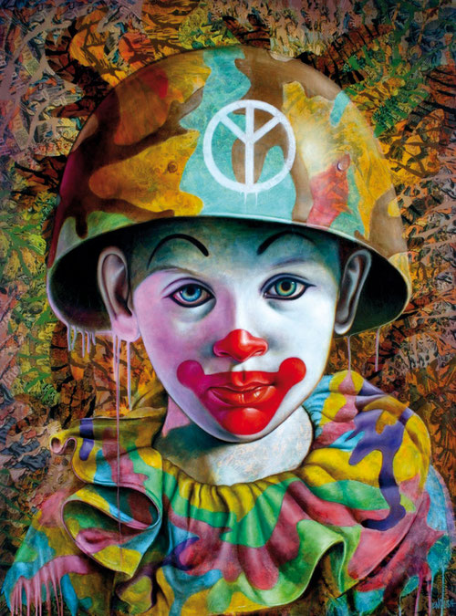 Ron English  Clown Boy, 2011