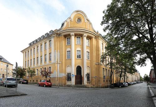 Boeßneck-Meyer-Haus vom Scherbergplatz aus gesehen