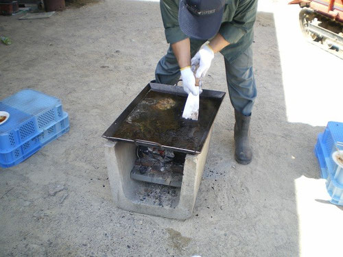 アツアツごちそう鉄板 お好み焼きテーブルサイズ 水洗い