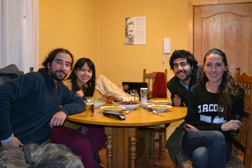 Hora de la cena con Romi y Diego