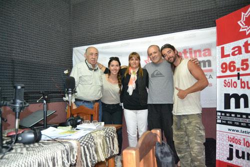Con Alejandro Olmedo, Lucia y Angel en Radio Latina FM
