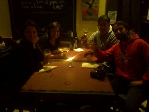 Cena con Martín y Anahí