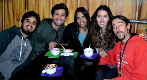 JR., Vinicio, Evelyn y nosotros