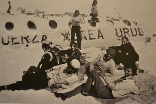 Fotografía exhibida en el Museo Andes 1972