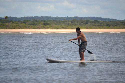 Stand Up Paddle en Playa la Concha en Itacaré, Bahía