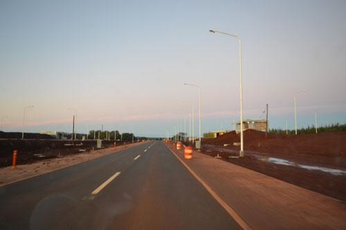 Caminos de tierra colorada