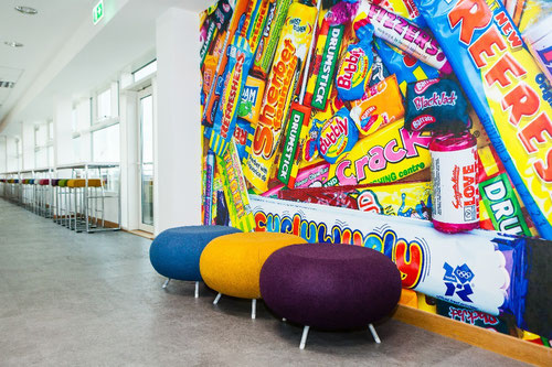 quirky venue, funky, day meetings, DDR, off sites, refreshers, curlywurly, sherbet dib dabs, love hearts, retro sweets, wall design, mural, search, creative space, finder, venue finder, quality venue, UK Venue, Birmingham venue, Leeds venue, Manchester