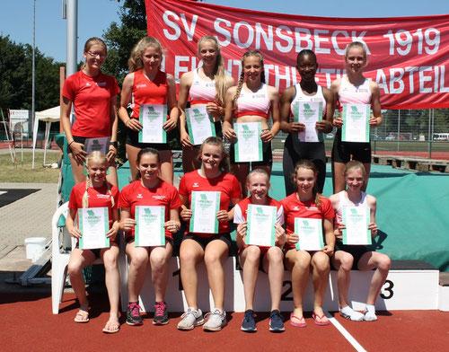 Die erfolgreiche U16-Mannschaft der StG Rhede-Sonsbeck.