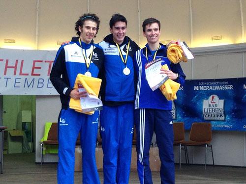 Bronze zum DM-Debüt: Jonathan Kolks (rechts) läuft den Halbmarathon in Bad Libenzell in straken 1:09:09 Stunden.