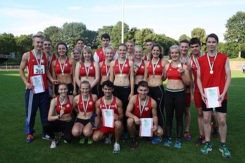 Die männliche und die weibliche U18 der StG Rhede-Sonsbeck-Wesel fuhren mit Mannschaftsgold nach Hause.