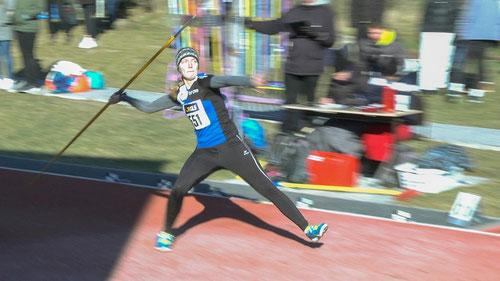 Mit 42,68 Metern warf Hannah Schoofs einen neuen LAZ-Vereinsrekord mit dem Speer.