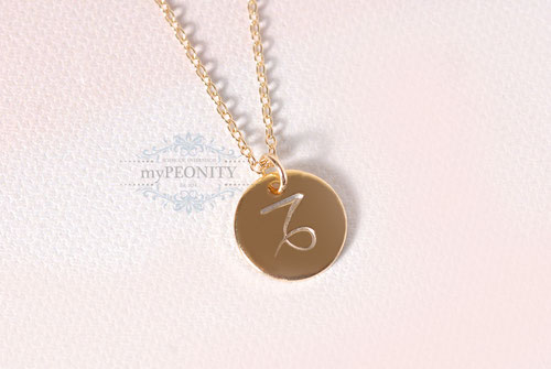 Sternzeichen zwei Stück Kette Perle silber gold