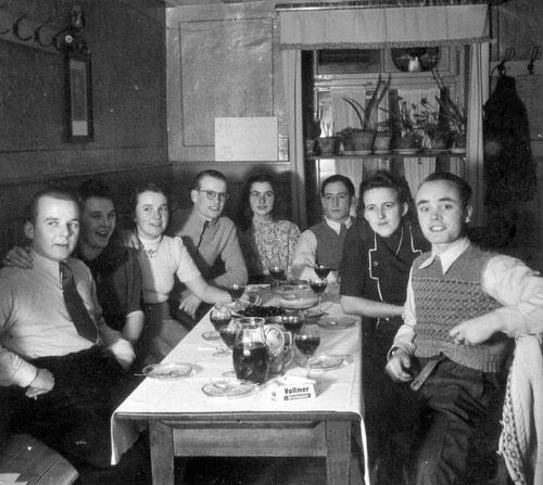 Geburtstagsfeier im Gasthaus Rose ca. 1949
