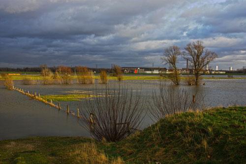 Ruhrort Hochwasser Dezember 2012