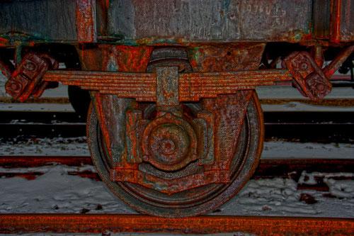 Güterwagon Federung