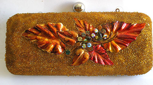 Brass Leaf Clutch