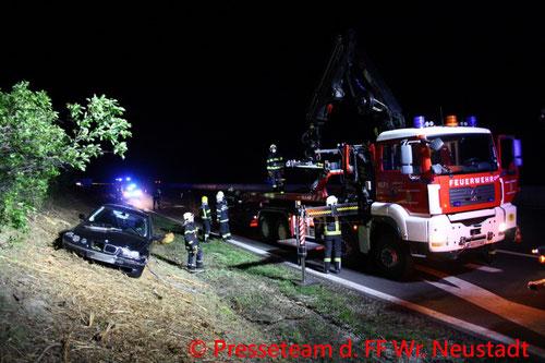 Feuerwehr; Blaulicht; FF Wiener Neustadt; Brand; Müllzerkleinerer;