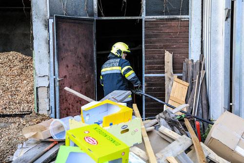 Feuerwehr; Blaulicht; BFV Knittelfeld; Brand; Sägewerk; St. Margarethen; St. Lorenzen;
