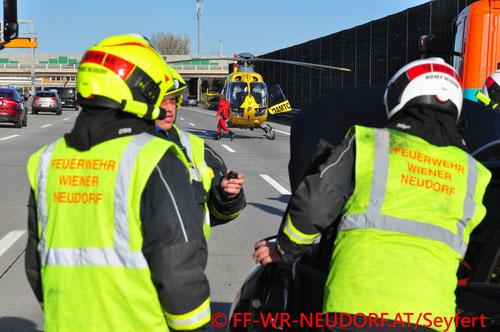 Feuerwehr; Blaulicht; FF Wiener Neudorf; Unfall; A3;