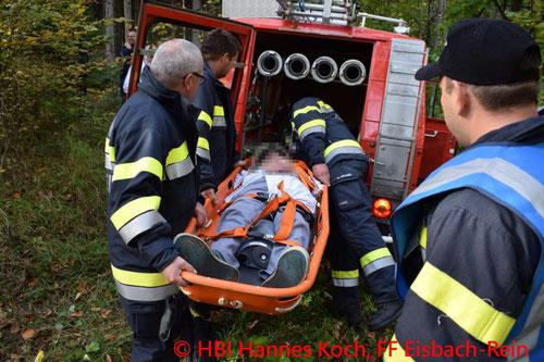 Feuerwehr, Blaulicht, Unfall, Radfahrer, FF Eisbach-Rein, Rotes Kreuz