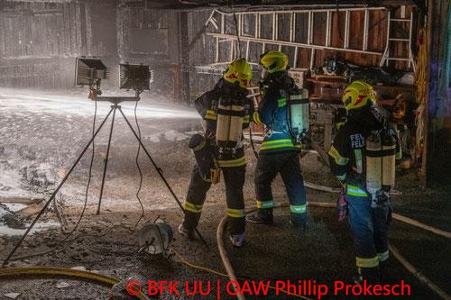Feuerwehr, Blaulicht, Sturm, Einsätze, Urfahr-Umgebung, Baum, Anhänger, Metallteile